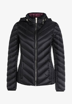 SHORT PACKABLE PUFFER - Bunda z prachového peří - black