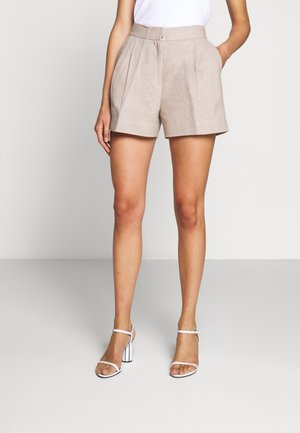 PLEATED - Shorts - beige