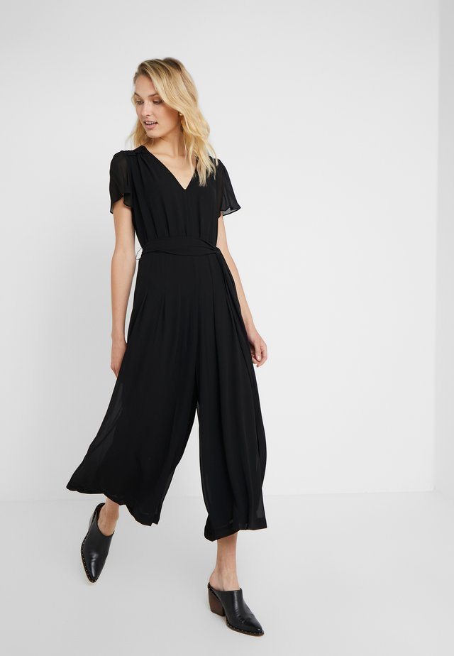 CROP SMOCK - Tuta jumpsuit - black