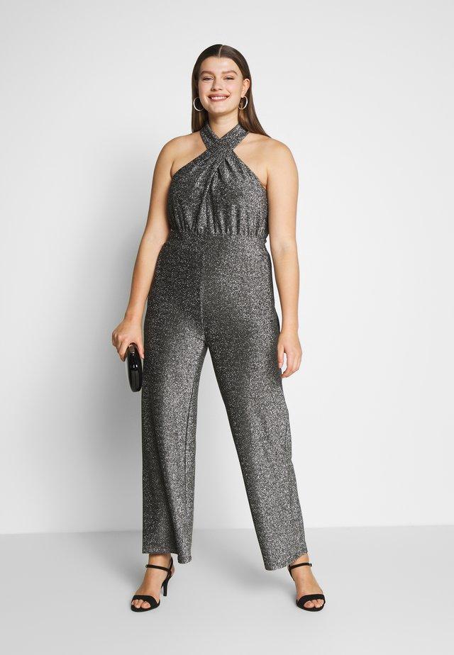 TWIST HALTER  - Overall / Jumpsuit /Buksedragter - black / silver