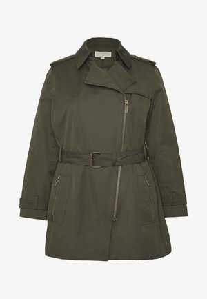 PLUS ZIP FRONT - Trench - ivy