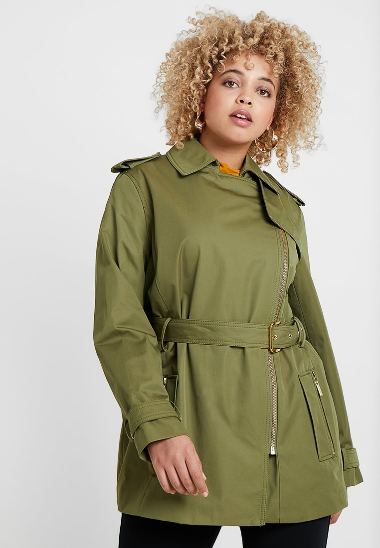 MICHAEL Michael Kors - PLUS ZIP FRONT - Trenchcoat - smoky olive