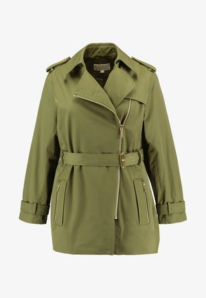 PLUS ZIP FRONT - Trench - smoky olive