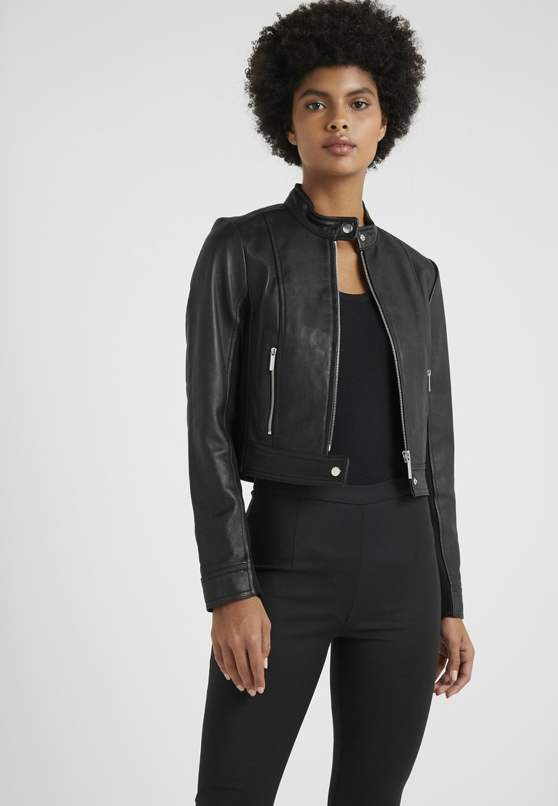 MICHAEL Michael Kors - PONTI COMBO - Leather jacket - black