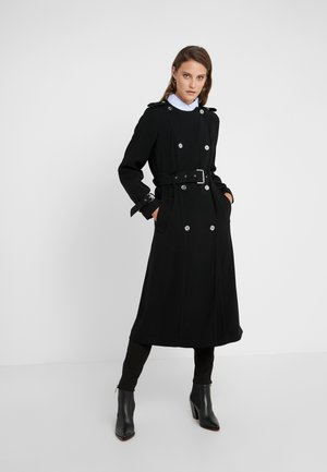COLLARLESS - Trench - black