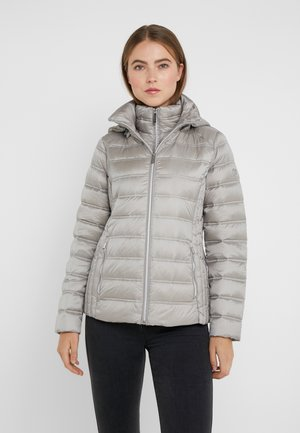 SHORT PACKABLE PUFFER WITH HOOD - Chaqueta de plumas - nickel