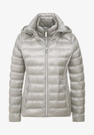 SHORT PACKABLE PUFFER WITH HOOD - Dunjakker - nickel