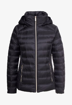 SHORT PACKABLE PUFFER WITH HOOD - Daunenjacke - black