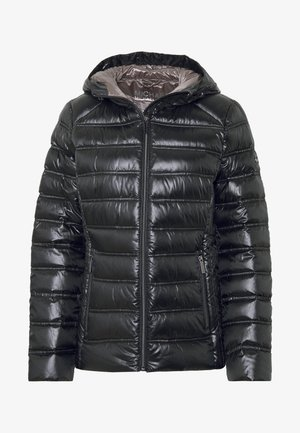 FITTED PACKABLE PUFFER HOOD - Bunda z prachového peří - black