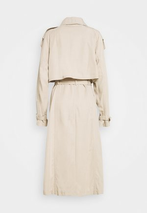 DRAPEY CHANGED TO GOLD HORN BUTTONS - Trenchcoat - dune