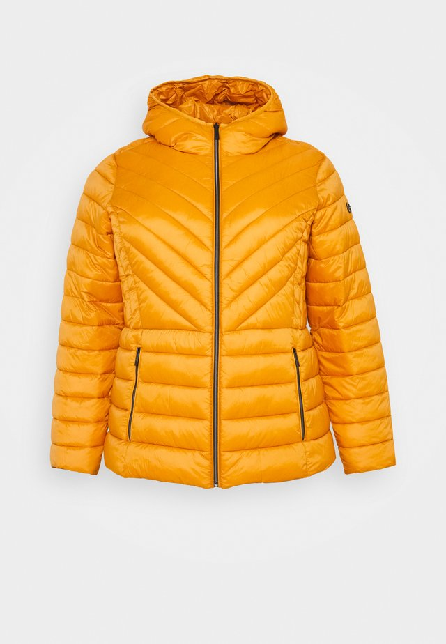 ZIP FRONT PACKABLE WHOOD - Lehká bunda - marigold