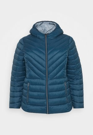 ZIP FRONT PACKABLE WHOOD - Veste mi-saison - blue