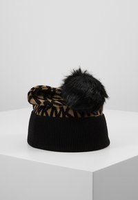 MICHAEL Michael Kors - ALLOVER POM BEANIE - Bonnet - dark camel/black - 2