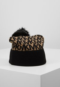 MICHAEL Michael Kors - ALLOVER POM BEANIE - Bonnet - dark camel/black - 0