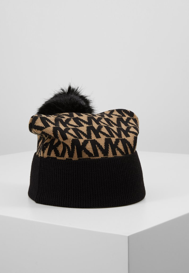 MICHAEL Michael Kors - ALLOVER POM BEANIE - Bonnet - dark camel/black