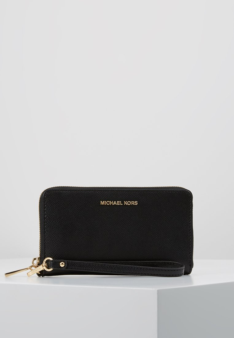 MICHAEL Michael Kors - JET SET TRAVEL FLAT CASE - Portemonnee - black