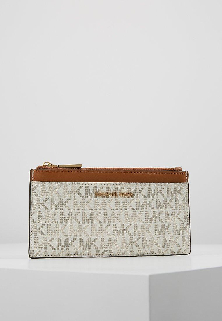 MICHAEL Michael Kors - MONEY PIECES SLIM CARD CASE - Monedero - vanilla/acrn