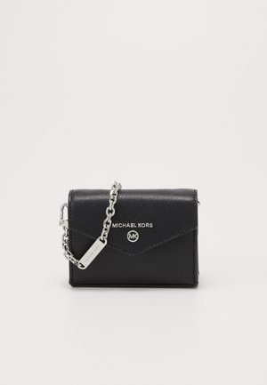 JET SET CHARMS CARD CASE BODY - Lompakko - black