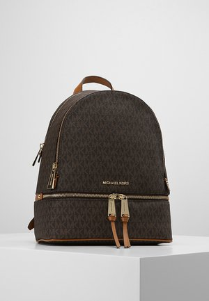 RHEA ZIP BACK PACK - Plecak - brown