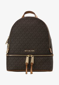 MICHAEL Michael Kors - RHEA ZIP BACK PACK - Rucksack - brown