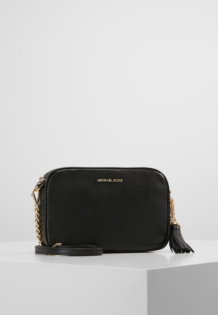 MICHAEL Michael Kors - JET SET CAMERA BAG MERCER PEBBLE - Schoudertas - black