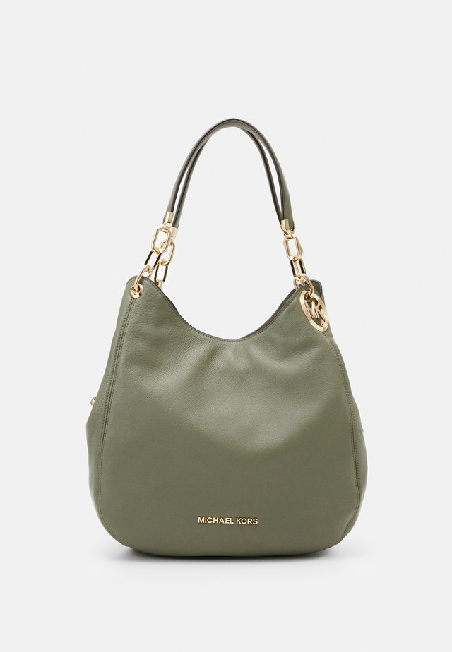 LILLIE CHAIN TOTE SMALL - Handtas - army green