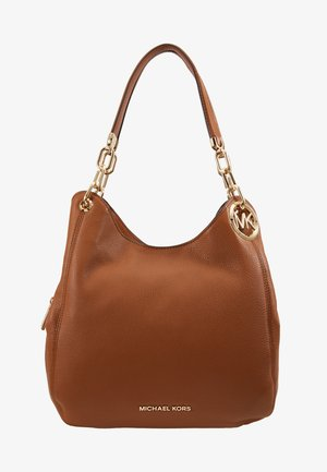 LILLIE CHAIN TOTE SMALL - Handbag - cognac