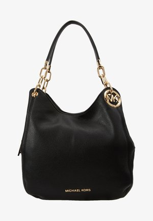 LILLIE CHAIN TOTE SMALL - Handväska - black
