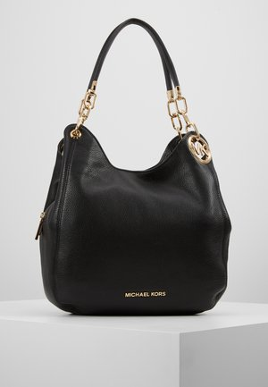 LILLIE CHAIN TOTE SMALL - Handbag - black