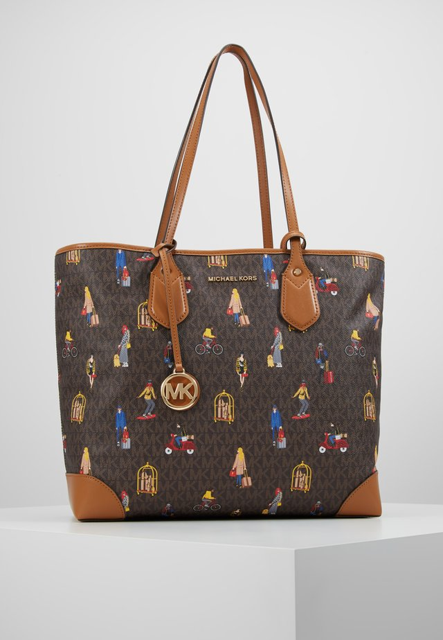 EVA TOTE TRAVEL GIRLS - Handtasche - brown/multi