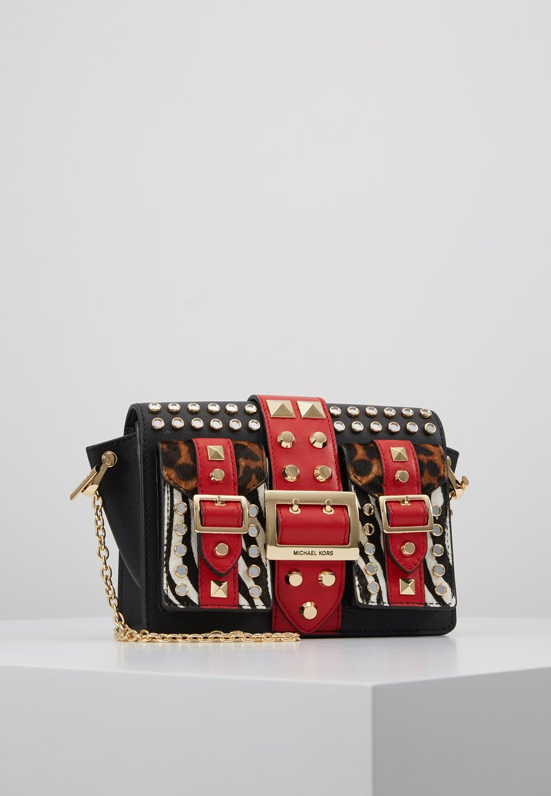 MICHAEL Michael Kors - FUNKY FALL HAYDEN POCKET - Handbag - black/multi