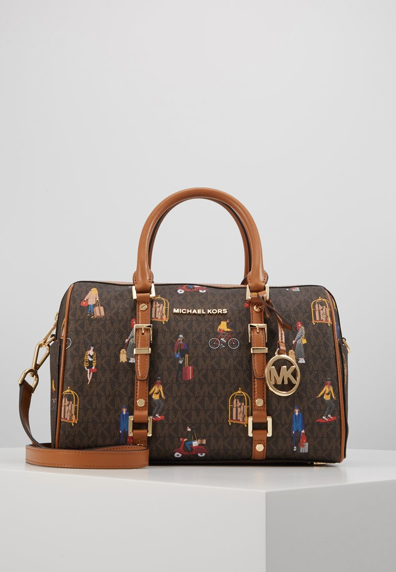 MICHAEL Michael Kors - BEDFORD TRAVEL DUFFLE SATCHEL JET SET GIRLS - Bolso de mano - brown/multi