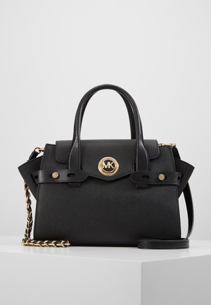 CARMEN FLAP SATCHEL SAFFIANO - Sac à main - black