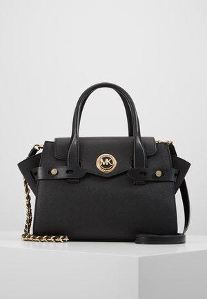 FLAP SATCHEL - Håndtasker - black