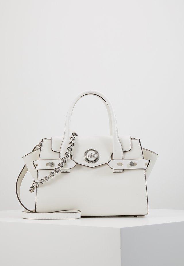 CARMENSM FLAP BELTED SATCHEL - Handbag - optic white