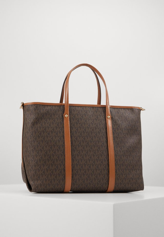 TOTEM SOFT UNLINED - Bolso shopping - brown