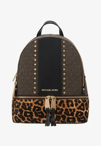 MICHAEL Michael Kors - CHEETAH AND STUDS RHEA ZIP BACKPACK - Ryggsekk - brown multi - 5