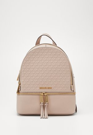 ZIP BACKPACK EMBOSS - Reppu - soft pink