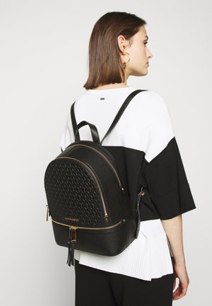 ZIP BACKPACK EMBOSS - Reppu - black