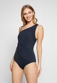 MICHAEL Michael Kors - SOLIDS ONE SHOULDER ONE PIECE - Plavky - new navy - 3