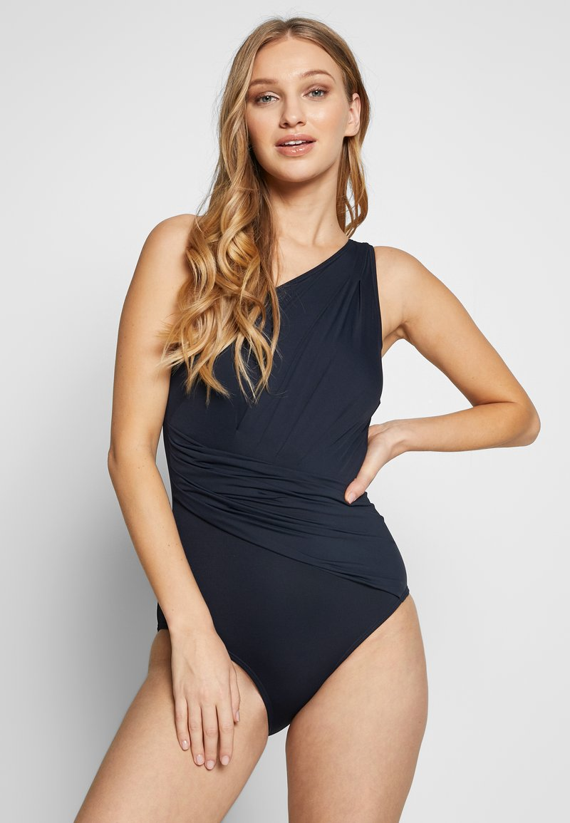 MICHAEL Michael Kors - SOLIDS ONE SHOULDER ONE PIECE - Plavky - new navy
