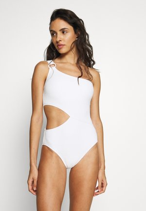DECADENT TEXTURE LOGO RING ONE PIECE - Maillot de bain - white