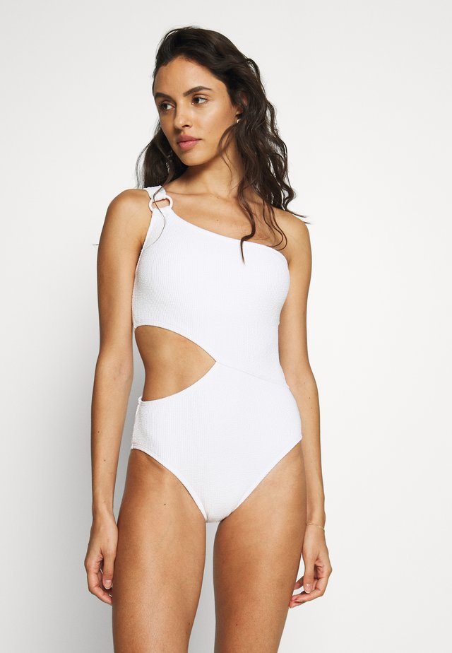DECADENT TEXTURE LOGO RING ONE PIECE - Badpak - white