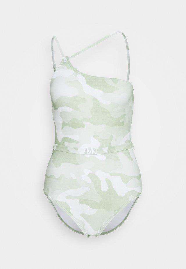 CAMO ONE SHOULDER ONE PIECE - Plavky - army green