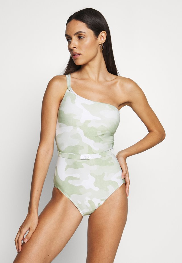 CAMO ONE SHOULDER ONE PIECE - Kostium kąpielowy - army green
