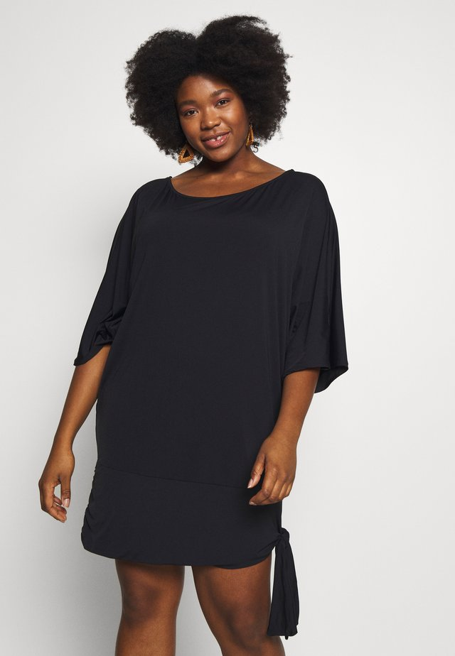 ICONIC SOLIDS SIDE TIE COVER UP - Complementos de playa - black