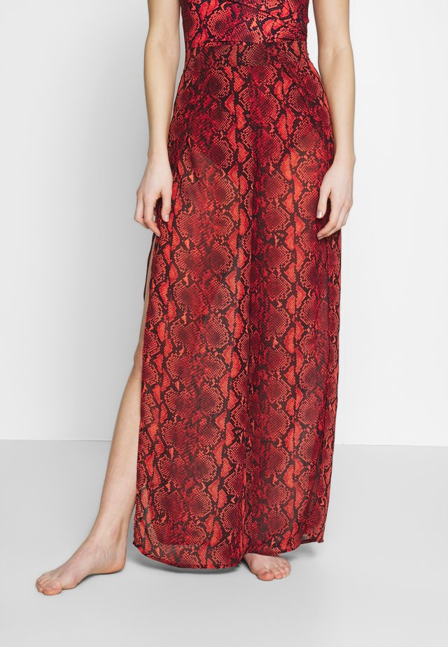 SNAKE PRINT COVER UP PANT - Strandaccessoar  - persimmon