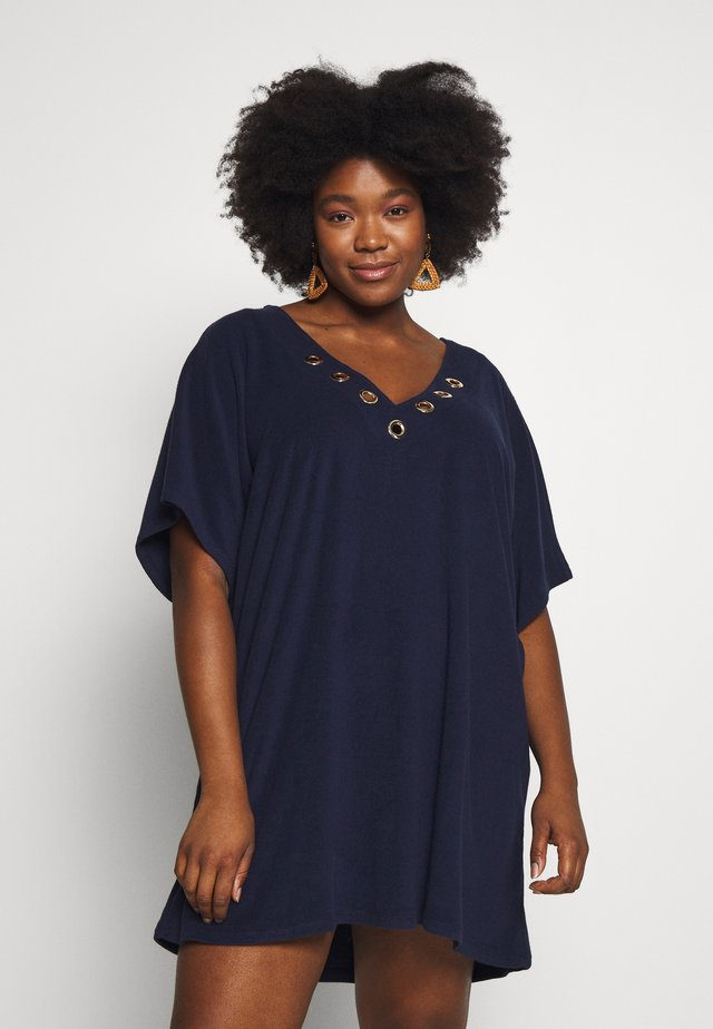 ICONIC SOLIDS TUNIC COVER UP - Complementos de playa - new navy