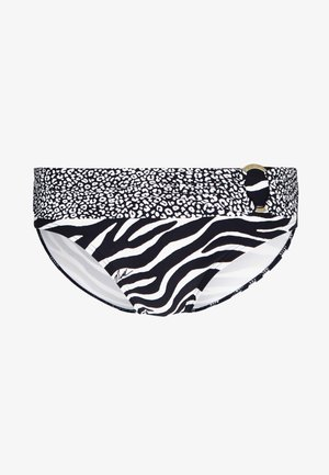 ANIMAL BLEND FOLD OVER BOTTOM - Bañador - black/multi