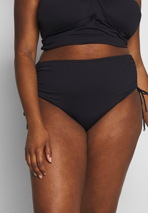 ICONIC SOLIDS SHIRRED HIPSTER BOTTOM - Bikini bottoms - black